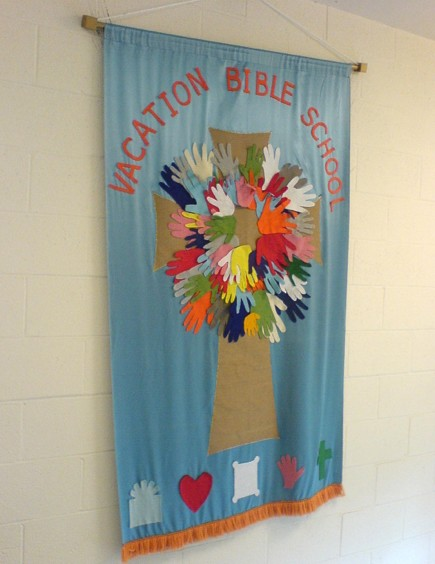 Handprints on Cross VBS Banner